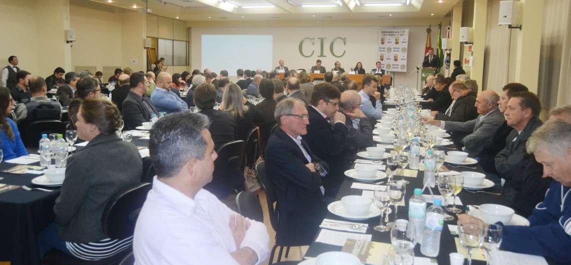 Encontro no CIC teve palestra com o comandante estadual da BM e prestação de contas do CONSEPRO