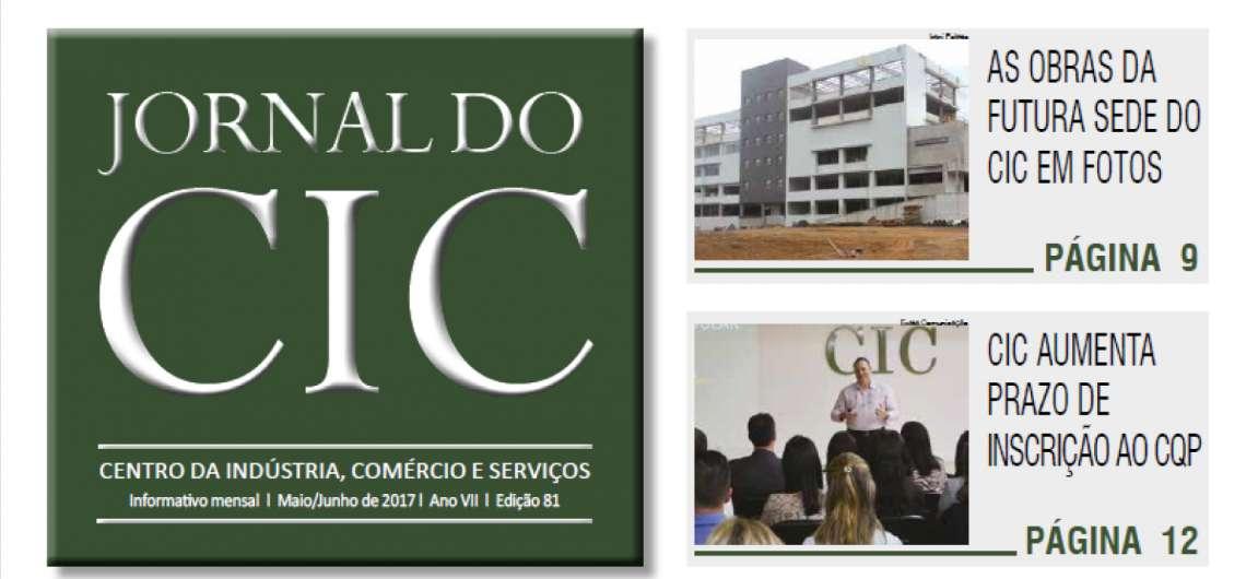 Nova edição do Jornal do CIC está disponível